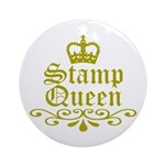 Gold Stamp Queen Ornament (Round)