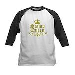 Gold Stamp Queen Kids Baseball Jersey