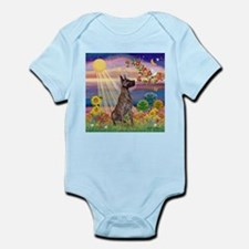 Autumn Angel & Great Dane Infant Bodysuit