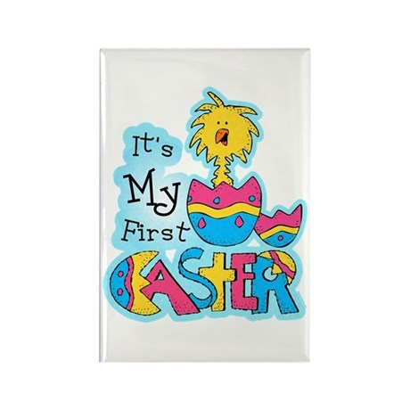 1st Easter Chickie Rectangle Magnet