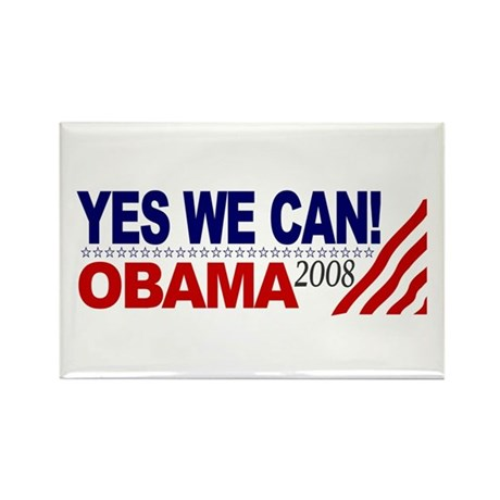 Yes we can obama 2008 rectangle magnet by worldsfair for Bett yes we can