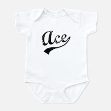 Vintage Ace (Black) Infant Bodysuit