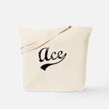 Vintage Ace (Black) Tote Bag