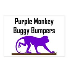 Purple Monkey Buggy Bumpers Postcards (Package of