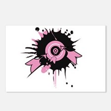 Pink Darts Postcards (Package of 8)