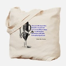 Cousteau Quote Tote Bag