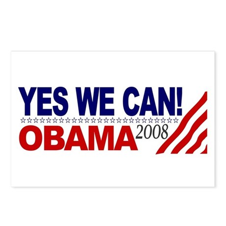 YES WE CAN OBAMA 2008 Postcards (Package of 8)