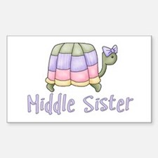 Pastel Turtle Middle Sister Rectangle Decal