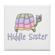 Pastel Turtle Middle Sister Tile Coaster