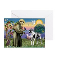 St. Francis & Great Dane Greeting Cards (Pk of 20)