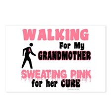 Walking/Sweating Pink 1 (Grandmother) Postcards (P