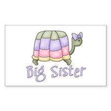 Pastel Turtle Big Sister Rectangle Decal