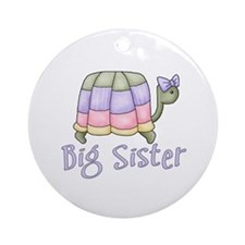 Pastel Turtle Big Sister Ornament (Round)