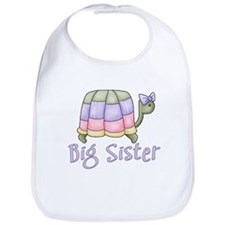 Pastel Turtle Big Sister Bib