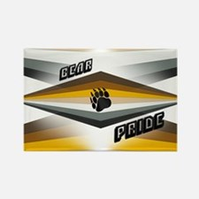 BEAR PRIDE ABSTRACT DESIGN Rectangle Magnet