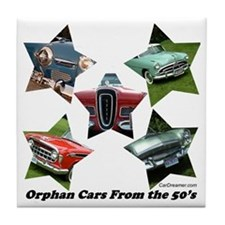 """""""Orphan Cars of the 50's"""" Tile Coaster"""