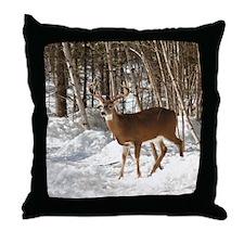 10 Point Buck Throw Pillow