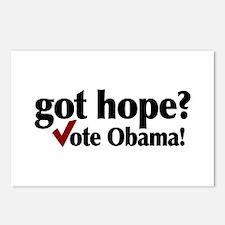 got hope? Vote Obama Postcards (Package of 8)