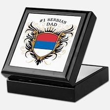 Number One Serbian Dad Keepsake Box