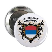 "Number One Serbian Grandpa 2.25"" Button"
