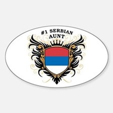 Number One Serbian Aunt Oval Decal
