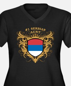 Number One Serbian Aunt Women's Plus Size V-Neck D