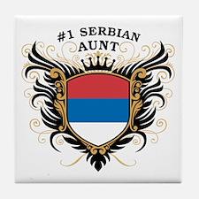Number One Serbian Aunt Tile Coaster