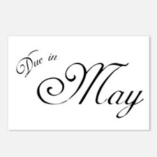 Due In May Formal Script Postcards (Package of 8)