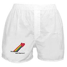 """Straight Not Narrow"" Boxer Shorts"