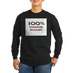 100 Percent Wardrobe Manager Long Sleeve Dark T-Sh