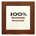 100 Percent Wardrobe Manager Framed Tile