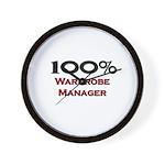 100 Percent Wardrobe Manager Wall Clock
