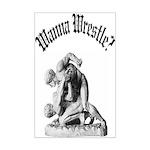 Wanna Wrestle Mini Poster Print