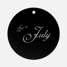 Due In July Formal Script Ornament (Round)