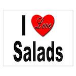 I Love Salads Small Poster