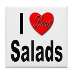 I Love Salads Tile Coaster