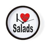 I Love Salads Wall Clock