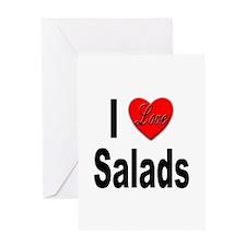 I Love Salads Greeting Card