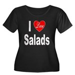 I Love Salads (Front) Women's Plus Size Scoop Neck