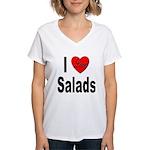 I Love Salads Women's V-Neck T-Shirt