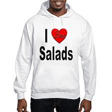 I Love Salads (Front) Hoodie
