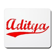 Vintage Aditya (Red) Mousepad