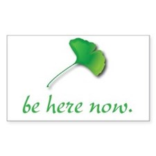 Be Here Now. Ginkgo leaf Rectangle Decal