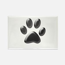 Paw Print Rectangle Magnet (100 pack)