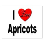 I Love Apricots Small Poster