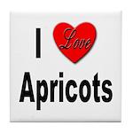 I Love Apricots Tile Coaster