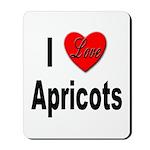 I Love Apricots Mousepad