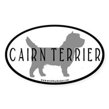 Cairn Terrier Oval #2 ( blk border) Oval Decal
