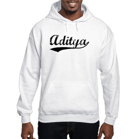 Vintage Aditya (Black) Hooded Sweatshirt