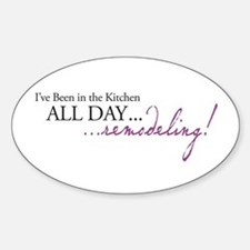 Remodeling Oval Decal